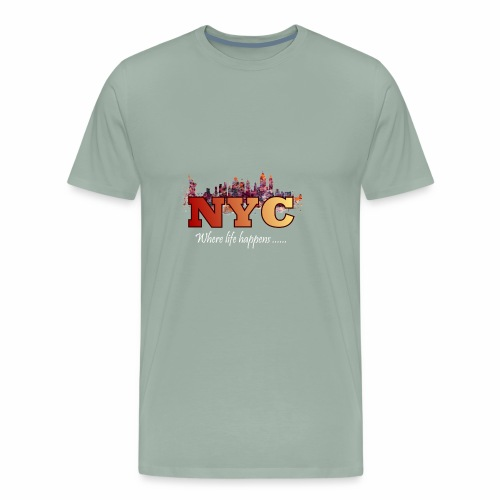 nyc splash - Men's Premium T-Shirt