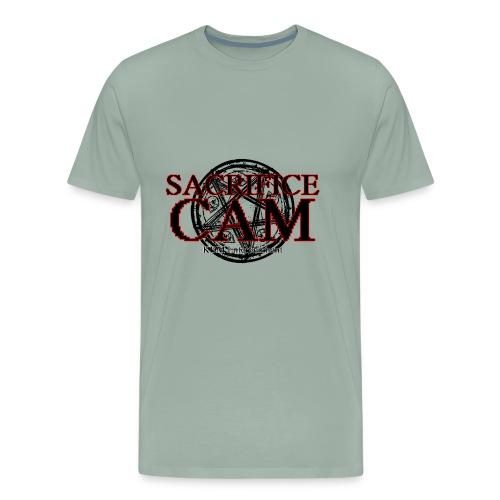 Sacrifice Cam Logo (Red outlines) - Men's Premium T-Shirt