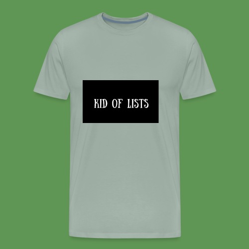 Kid of Lists logo - Men's Premium T-Shirt