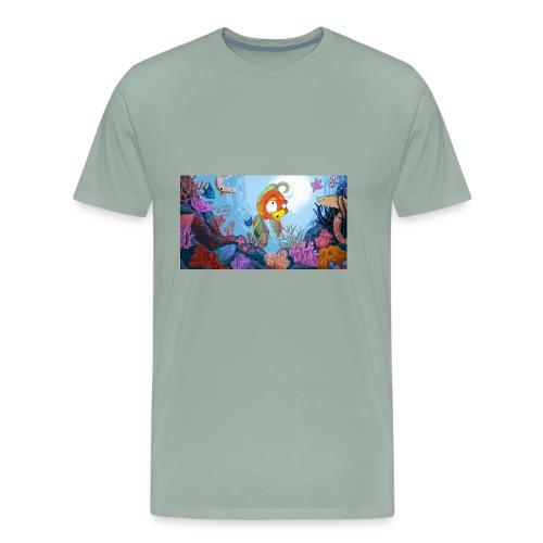 Cora Mascot in Ocean Scene - Men's Premium T-Shirt