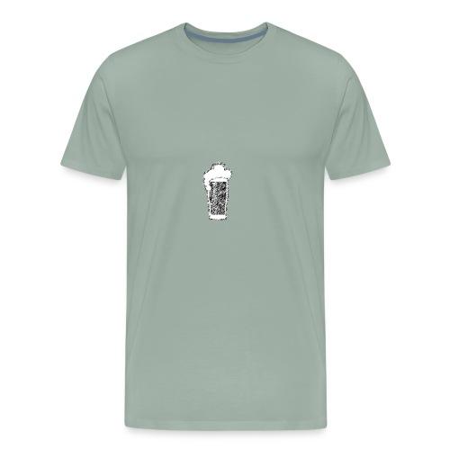 beer sketch - Men's Premium T-Shirt