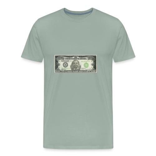 Face on Paper Money - Men's Premium T-Shirt