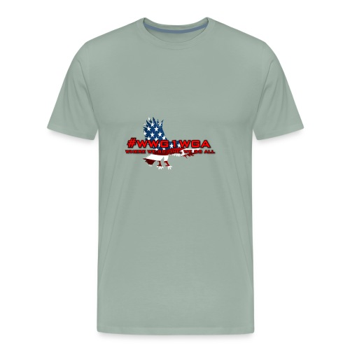 WWG1WGA EAGLE - REDLETTERING/BLACK OUTLINE - Men's Premium T-Shirt
