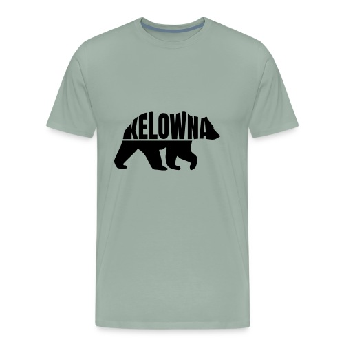 Kelowna Grizzly B&W - Men's Premium T-Shirt