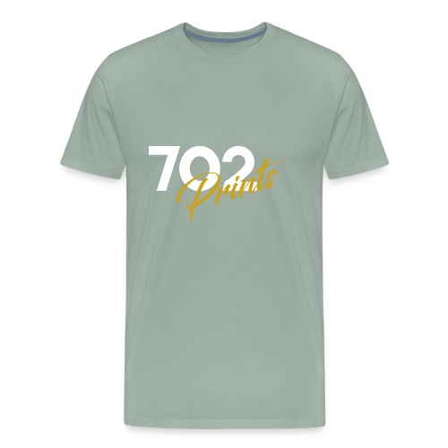 702 Prints Logo White - Men's Premium T-Shirt