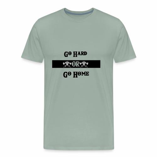 Go Hard Balken - Men's Premium T-Shirt