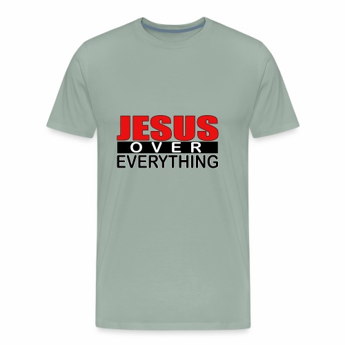 jesus over everything logo5 - Men's Premium T-Shirt