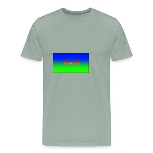 Oficial Abhi Merch (in mixed logo) - Men's Premium T-Shirt