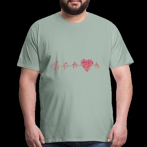 hearts a beatin - Men's Premium T-Shirt