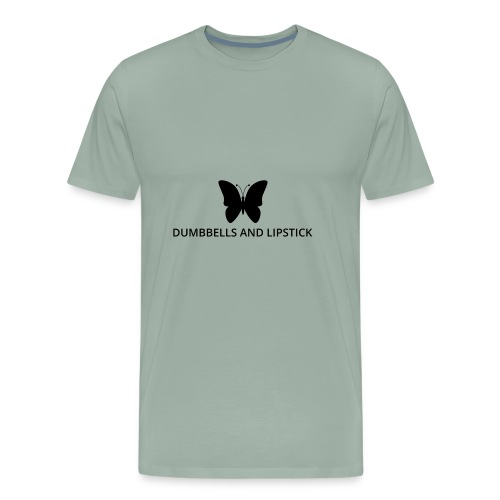 Dumbbells and Lipstick - Men's Premium T-Shirt