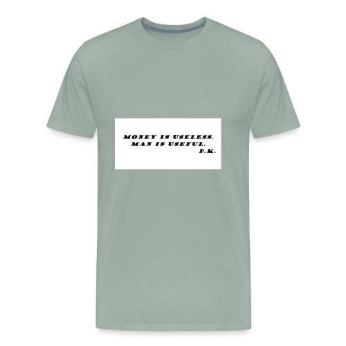 Money and Man - Men's Premium T-Shirt