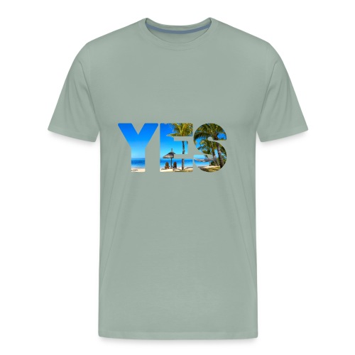 Yes to vacation - Men's Premium T-Shirt