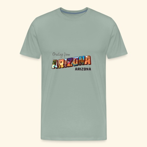 Greetings from Arizona - Men's Premium T-Shirt