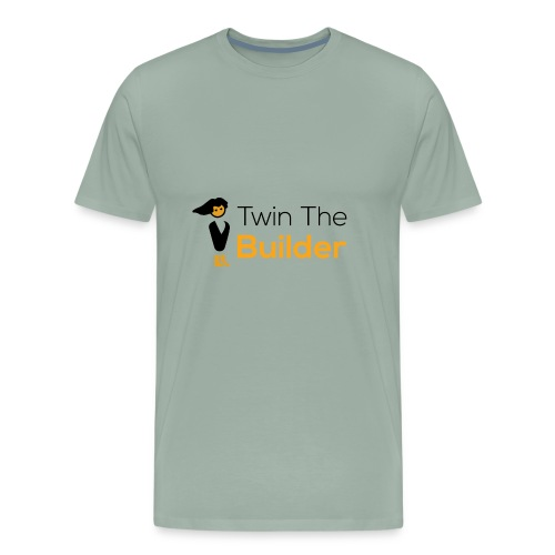 Twin The Builder Stacked Logo - Men's Premium T-Shirt