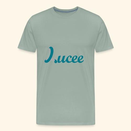 Lucee logo turquoise - Men's Premium T-Shirt