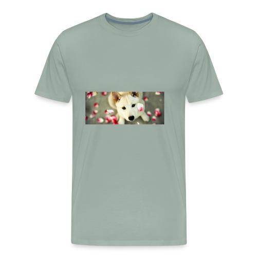 husky type pup - Men's Premium T-Shirt