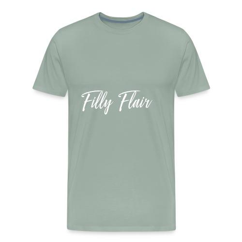 fillyflair white logo - Men's Premium T-Shirt