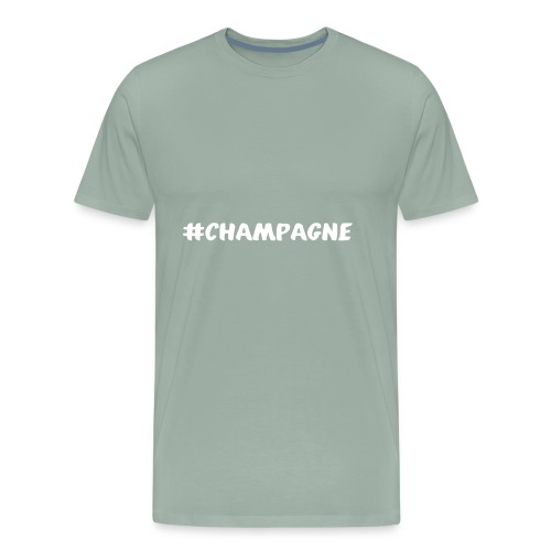 Champagne Hashtag - Men's Premium T-Shirt