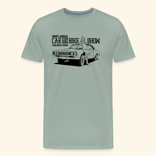 Nino's - Girl + Car Black - Men's Premium T-Shirt