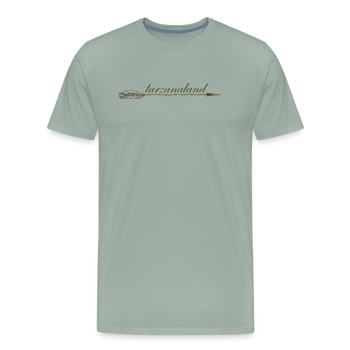 tarzanaland logo custom brown design - Men's Premium T-Shirt