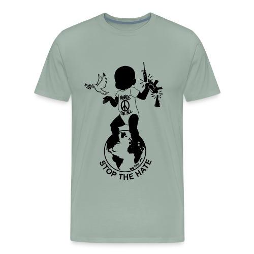 Stop the hate by biri - Men's Premium T-Shirt