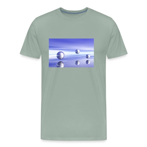 Ball Landscape in 3D - Men's Premium T-Shirt