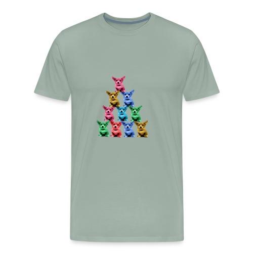 Corgi Dog Funny Pyramid - Men's Premium T-Shirt
