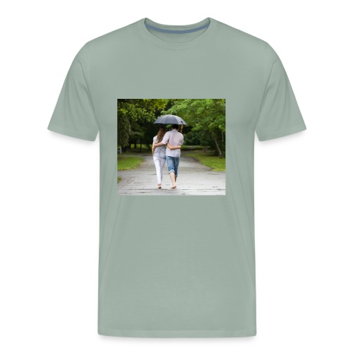 love couple 746 - Men's Premium T-Shirt