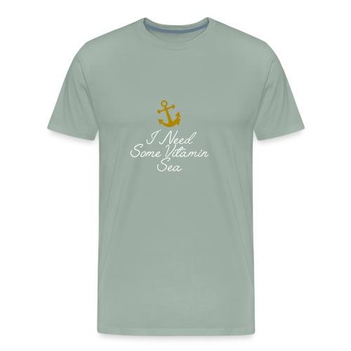 Summer Shirt Nautical Humour Logo - Men's Premium T-Shirt