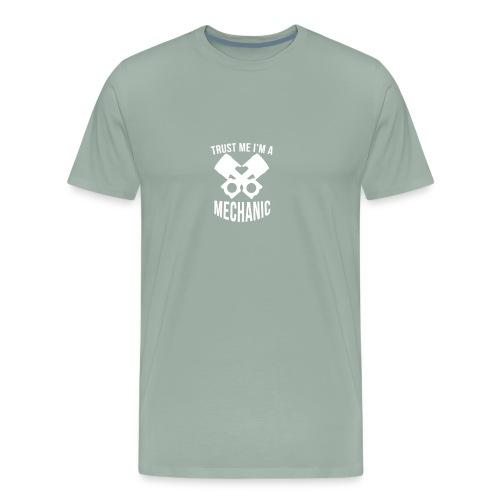 Trust Me I m A Mechanic Humour Logo - Men's Premium T-Shirt