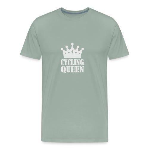 The Queen Crown Logo Funny - Men's Premium T-Shirt