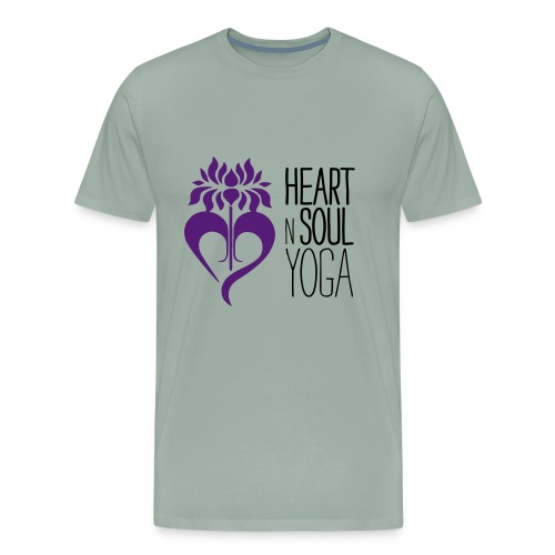 HeartNSoulYoga Logo Stacked - Men's Premium T-Shirt