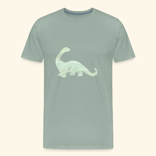 green brachi dinosaur - Men's Premium T-Shirt