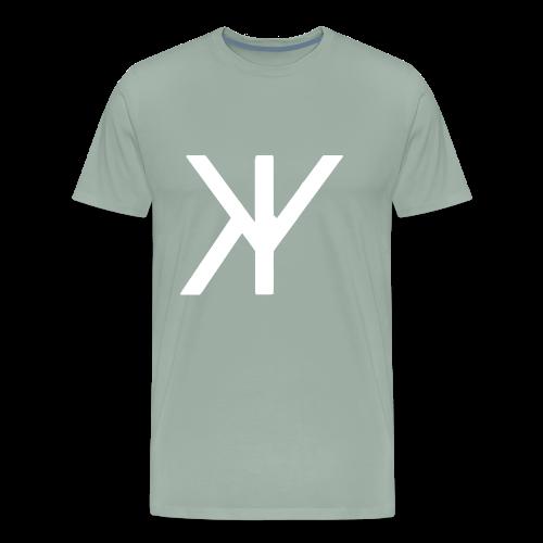 Classic Logo [White Variant] - Men's Premium T-Shirt