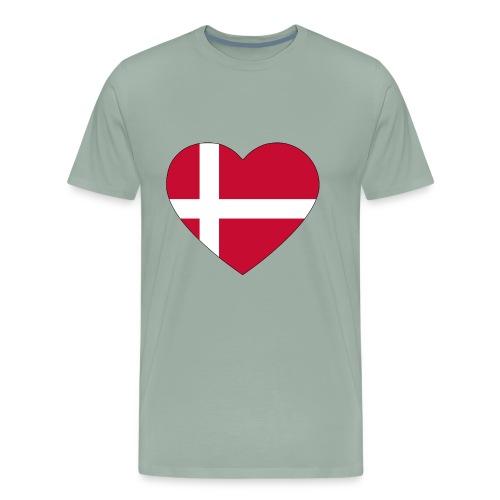 heart denmark flag worldchampionship 2018 - Men's Premium T-Shirt