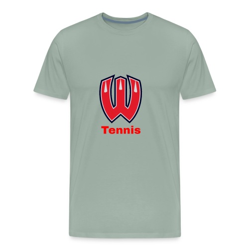 Westview High School Tennis (Red Lettering) - Men's Premium T-Shirt