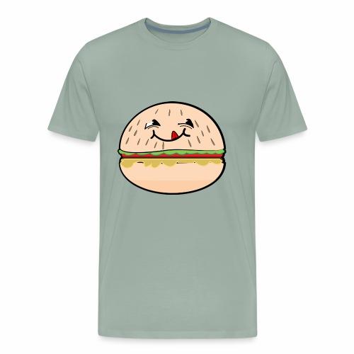 Mmmmm Burger Face Shirt - Men's Premium T-Shirt