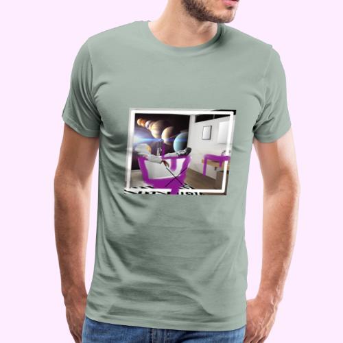 Space Man in Tub - Men's Premium T-Shirt