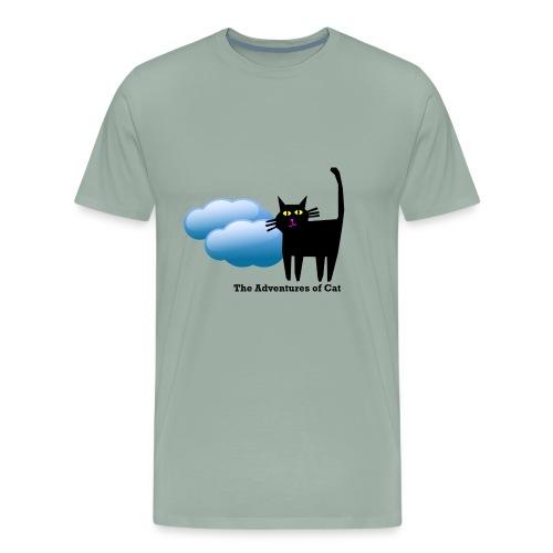 Cat Wanders Lonely - Men's Premium T-Shirt