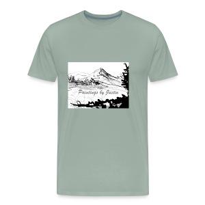 paintings by Justin - Men's Premium T-Shirt
