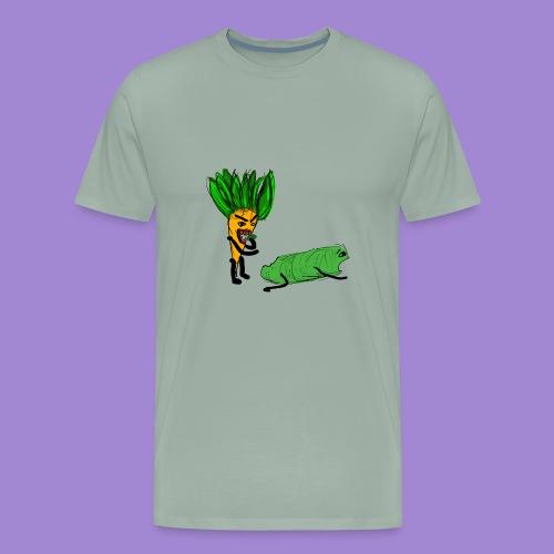 carrot eating a cucumber - Men's Premium T-Shirt