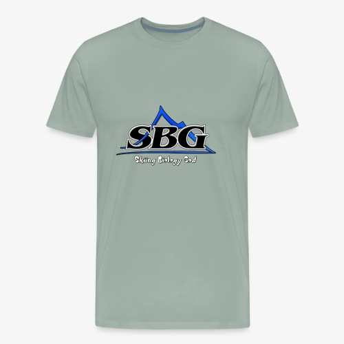 Skiing Biology God - Men's Premium T-Shirt