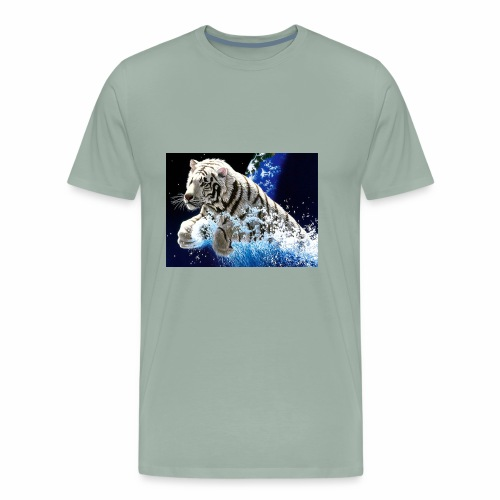 desktop year of the tiger images wallpaper - Men's Premium T-Shirt