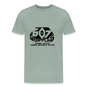 607 Grappling Black Logo - Men's Premium T-Shirt