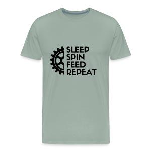 SLEEP SPIN FEED REPEAT Three - Men's Premium T-Shirt