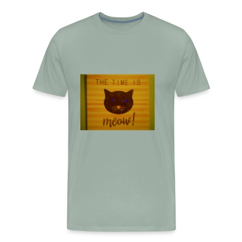 The time is meow - Men's Premium T-Shirt