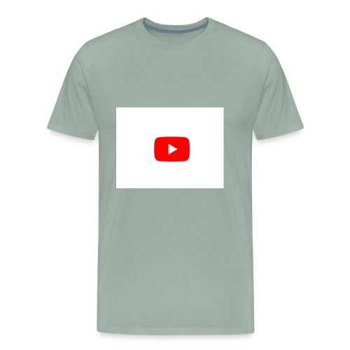 YouTube play button - Men's Premium T-Shirt