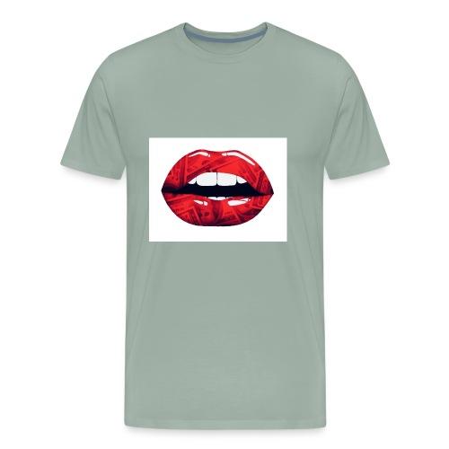 Money lips - Men's Premium T-Shirt
