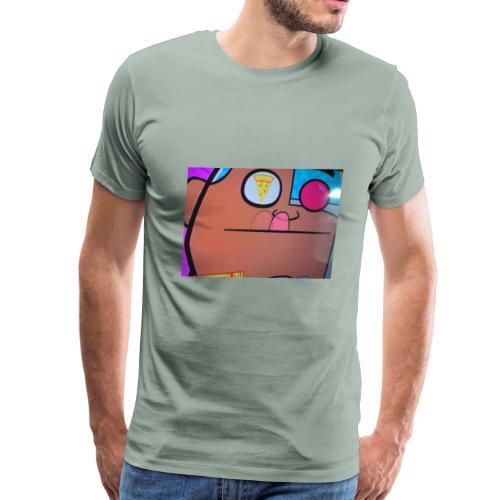 Thinking about pizza - Men's Premium T-Shirt