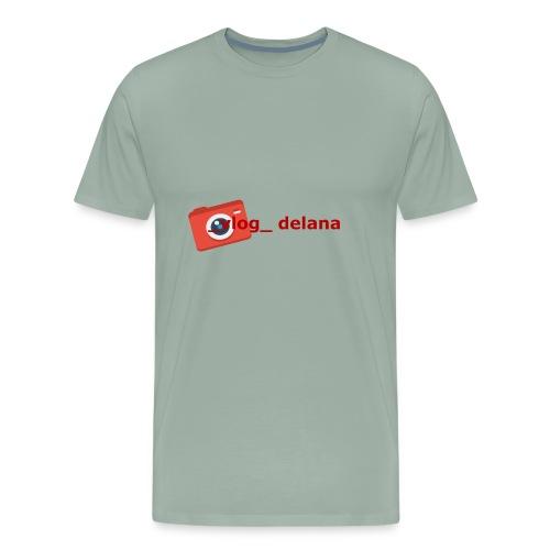 _vlog_ delana Logo Design - Men's Premium T-Shirt